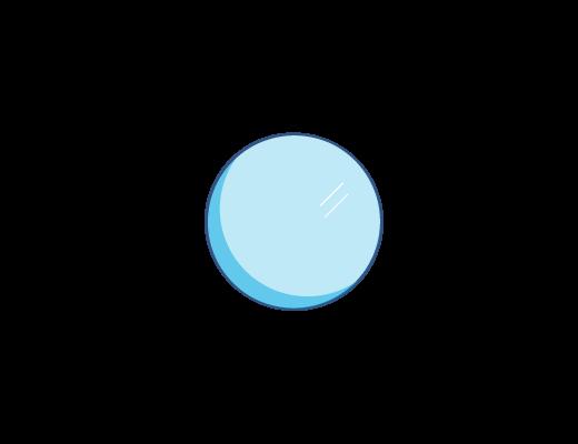 An illustraion of a blue lens