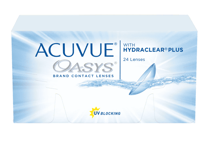 ACUVUE® OASYS® 2-WEEK with HYDRACLEAR® PLUS Contact Lenses