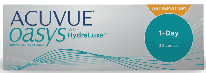 ACUVUE® OASYS 1-Day with HydraLuxe® Technology for ASTIGMATISM product image