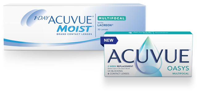 1-DAY ACUVUE® MOIST with PUPIL OPTIMIZED DESIGN and ACUVUE® OASYS with PUPIL OPTIMIZED DESIGN