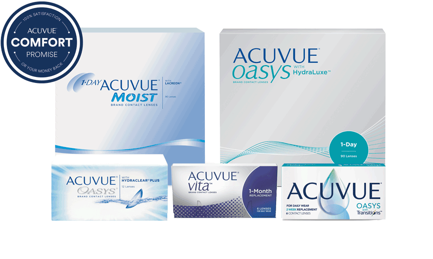 ACUVUE® Comfort Promise. 100% satisfaction or your money back