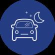 Driving at night Icon