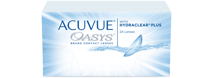 ACUVUE® OASYS with HYDRACLEAR® PLUS Technology Contact Lenses