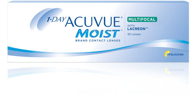 Photo of 1-Day ACUVUE® Moist Brand Multifocal Contact Lenses package