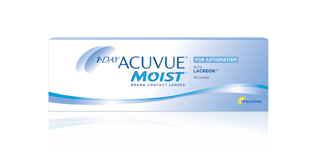 box image of 1-DAY ACUVUE® MOIST Brand Contact Lenses for ASTIGMATISM
