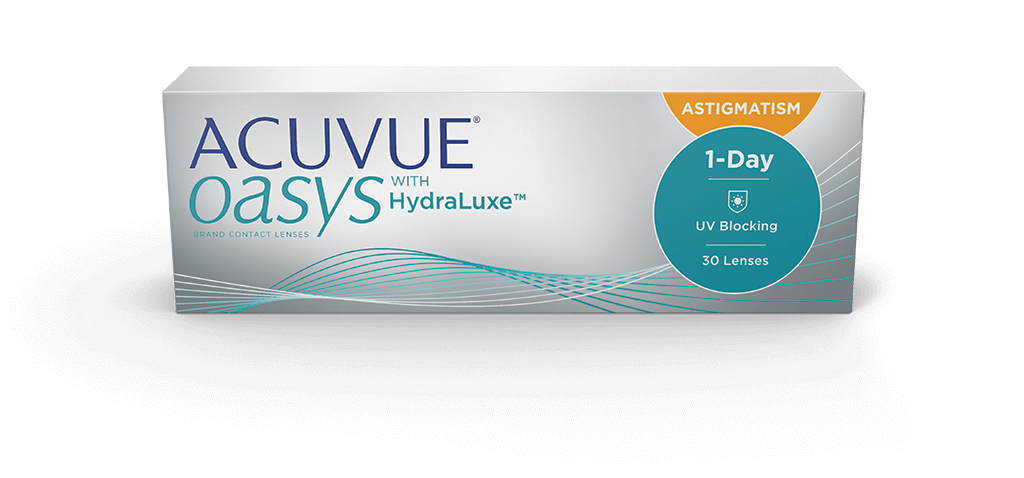 419b9c41316 box image of ACUVUE OASYS® 1-Day Brand Contact Lenses with HydraLuxe™  Technology