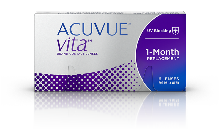 Photo of ACUVUE® VITA® Monthly Contact Lenses package